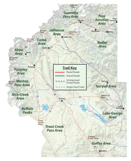 Map of Park County Colorado