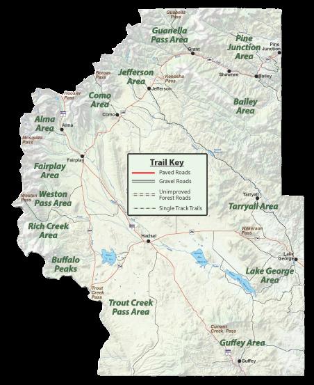 Map of Park County Colorado
